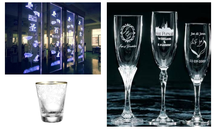 Laser Engraving, Etching and Marking of Glass